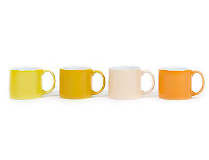 Set de 4 tasses mitjanes My Mug color groc